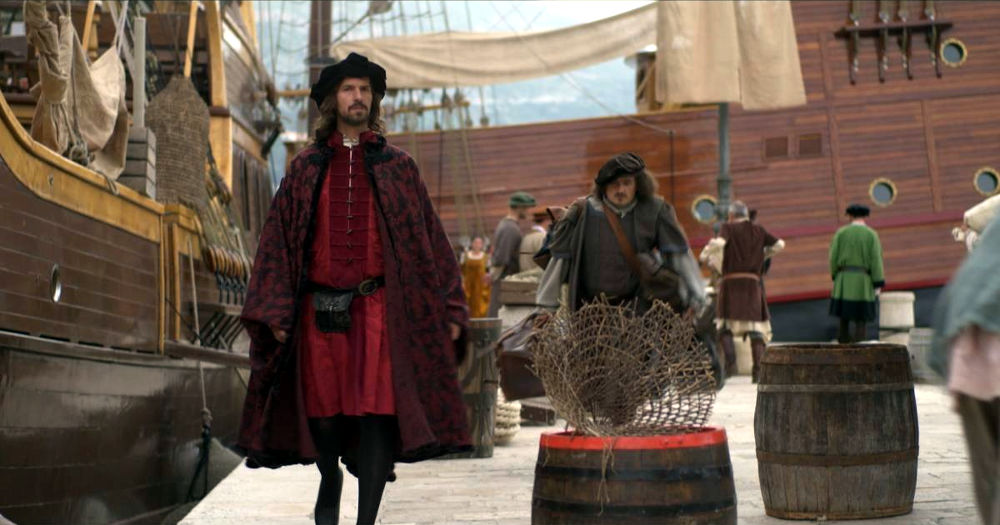 Dubrownicki port. Kadr z serialu dokumentalnego The Republic - a history of Dubrovnik chorwackiej telewizji HRT.