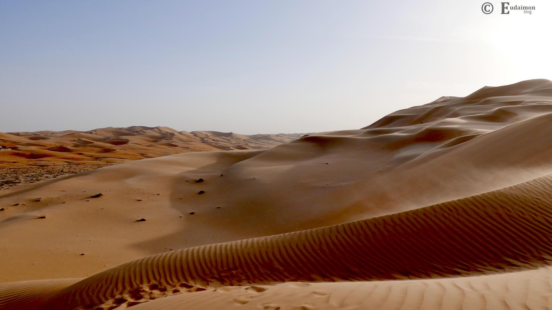 Piaszczyste wydmy wokół Qasr al Sarab