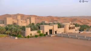 Qasr al Sarab o wschodzie słońca