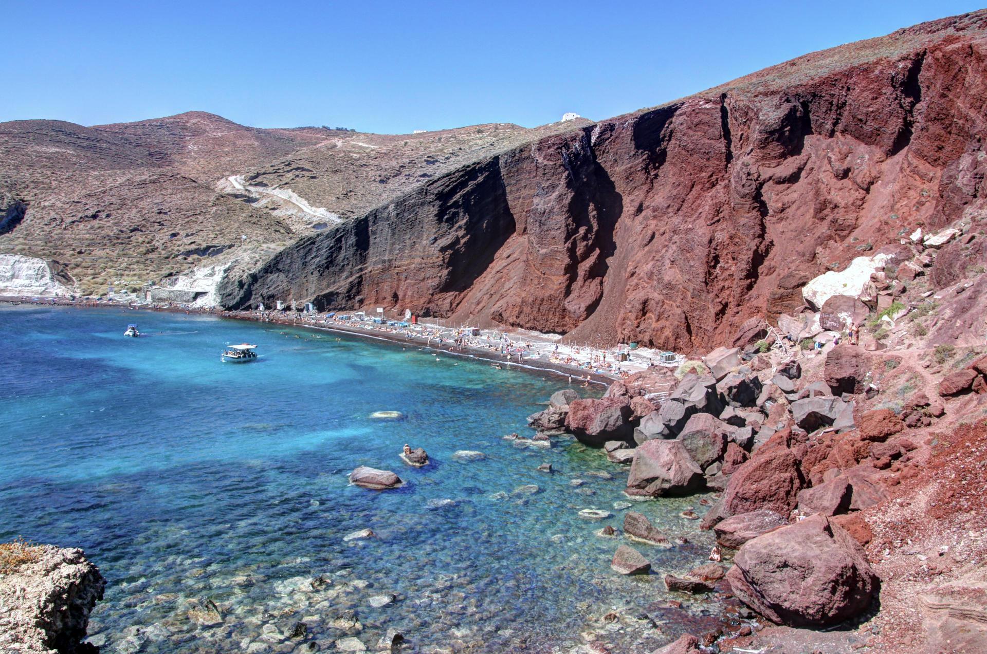 Czerwona Plaża na Santorini