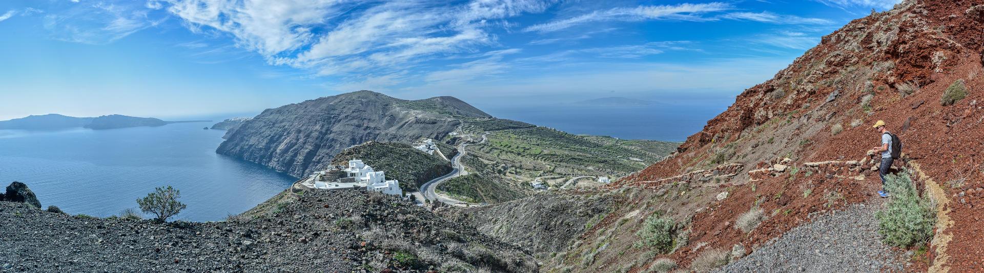 Piesza trasa wzdłuż kaldery, Santorini