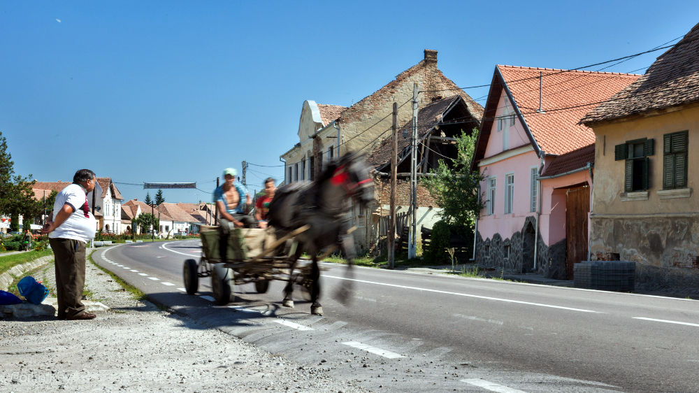 Wiejski krajobraz Transylwanii