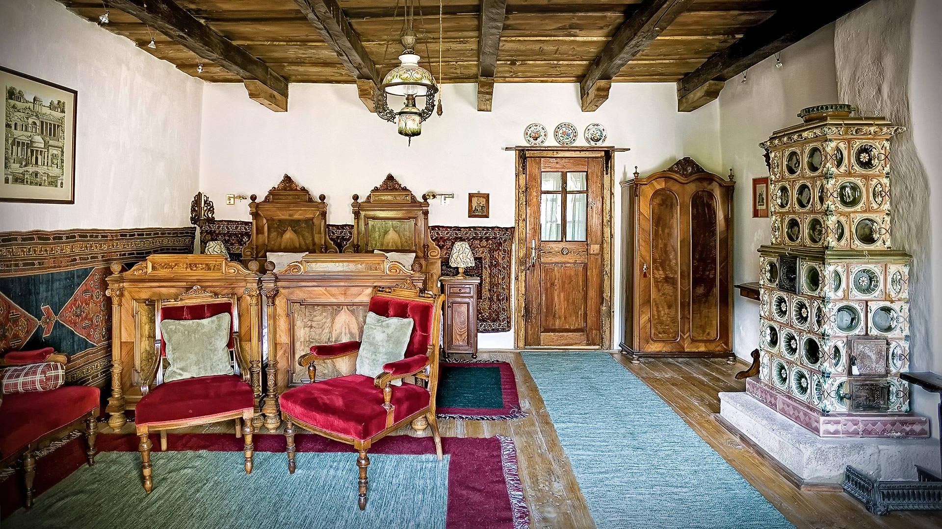 Pokój księcia Karola w posiadłości Prince of Wales's Guesthouses.