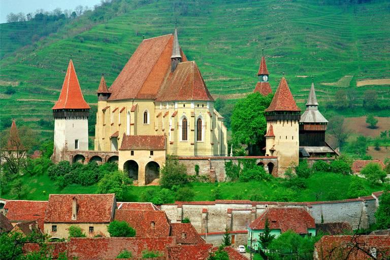 Ufortyfikowany kościół. Otto Schemmel/ Wikimedia Commons