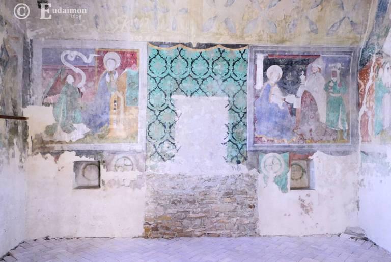 Oryginalne, średniowieczne malowidła ścienne © Eudaimon blog
