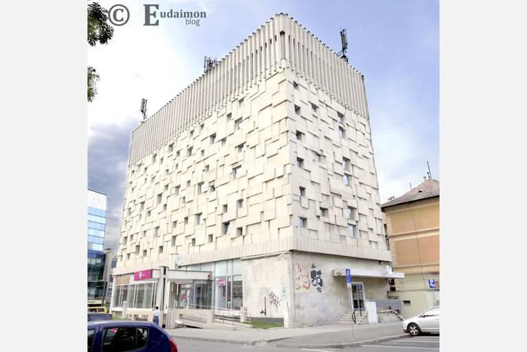 Brutalistyczny budynek Telekomunikacji i Poczty z 1968-1969r. © Eudaimon blog