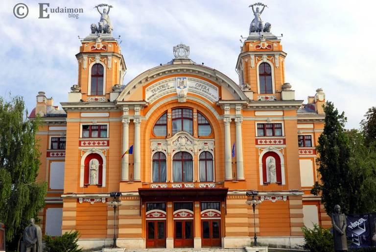 Neobarokowy budynek Teatru Narodowego im. Luciana Blaga/ Rumuńskiej Opery Narodowej z 1906r. © Eudaimon blog
